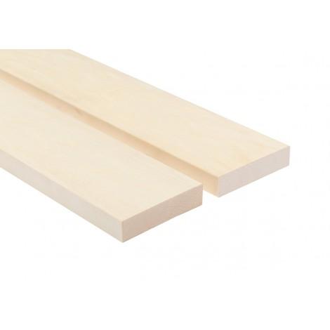 Profil ławkowy SHP 28x90 Osika biała - 4 sztuki profili