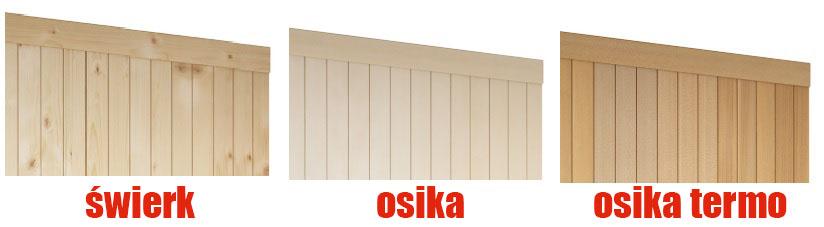 materiał kabiny sauny