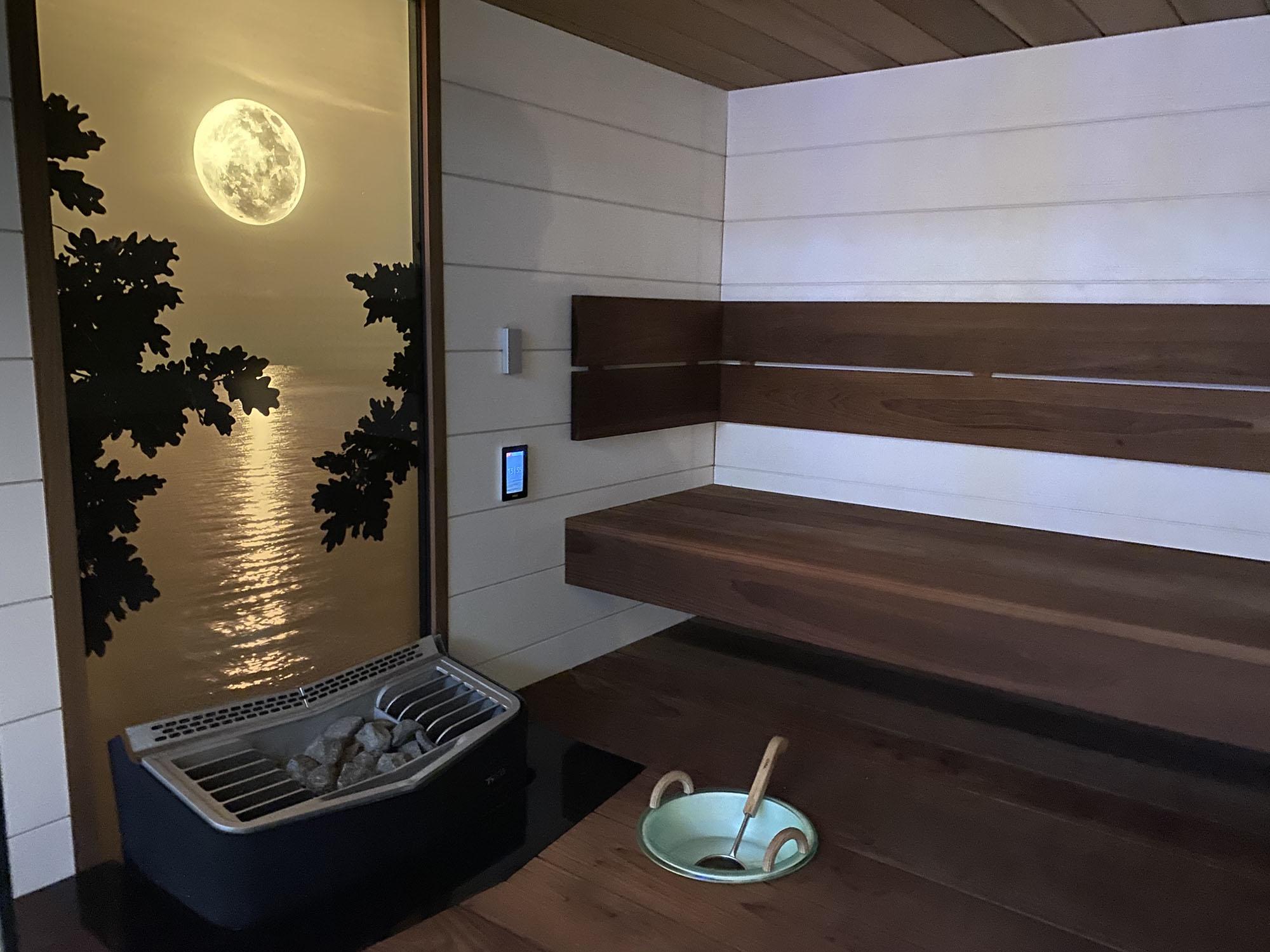wnętrze sauny na wymiar