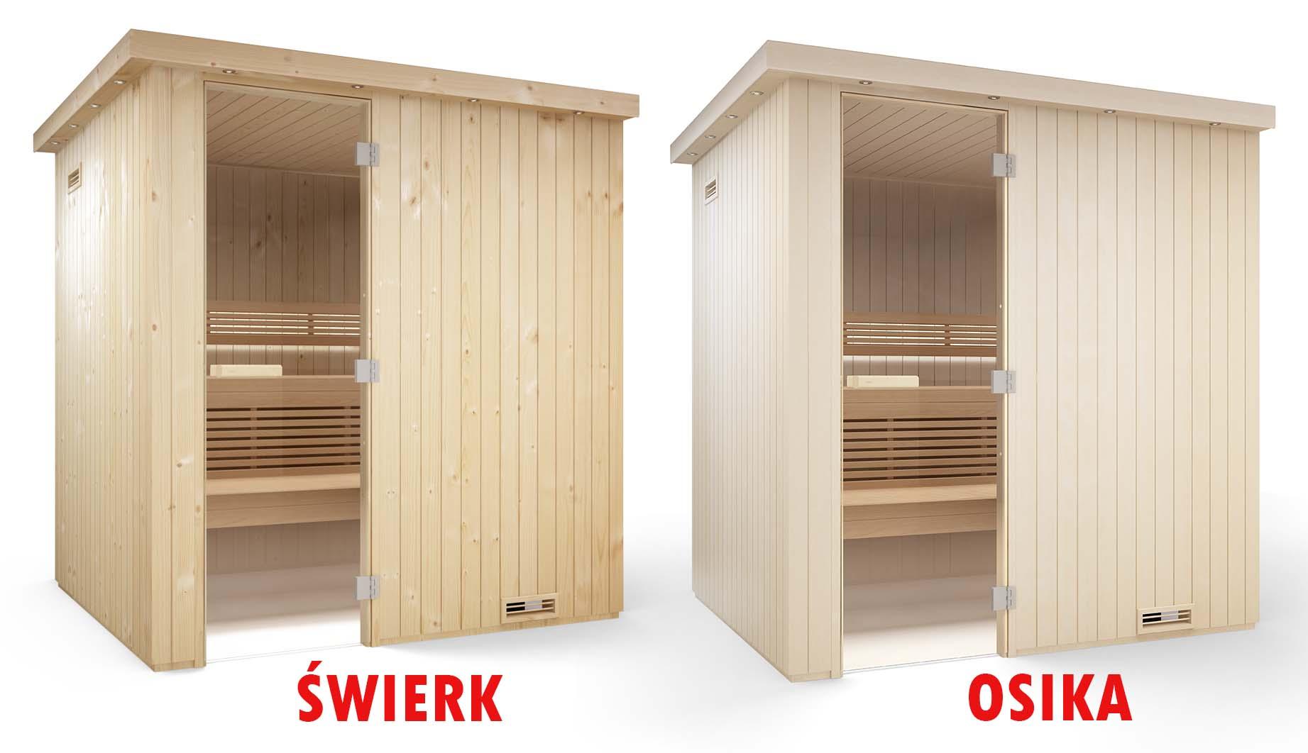 sauna typy drewna